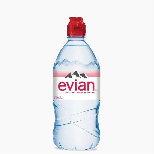 Evian (Эвиан), минеральная вода без газа, 0.75 л.