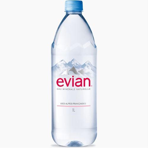 evian jevian mineralnaja voda bez gaza 1.0 l