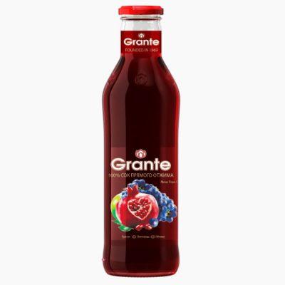 """Сок """"GRANTE"""", гранатово-виноградно-яблочный, 0.75 л."""