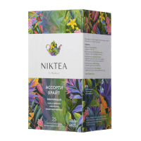 Чай в пакетах Niktea Assorti Bright, 25 п.