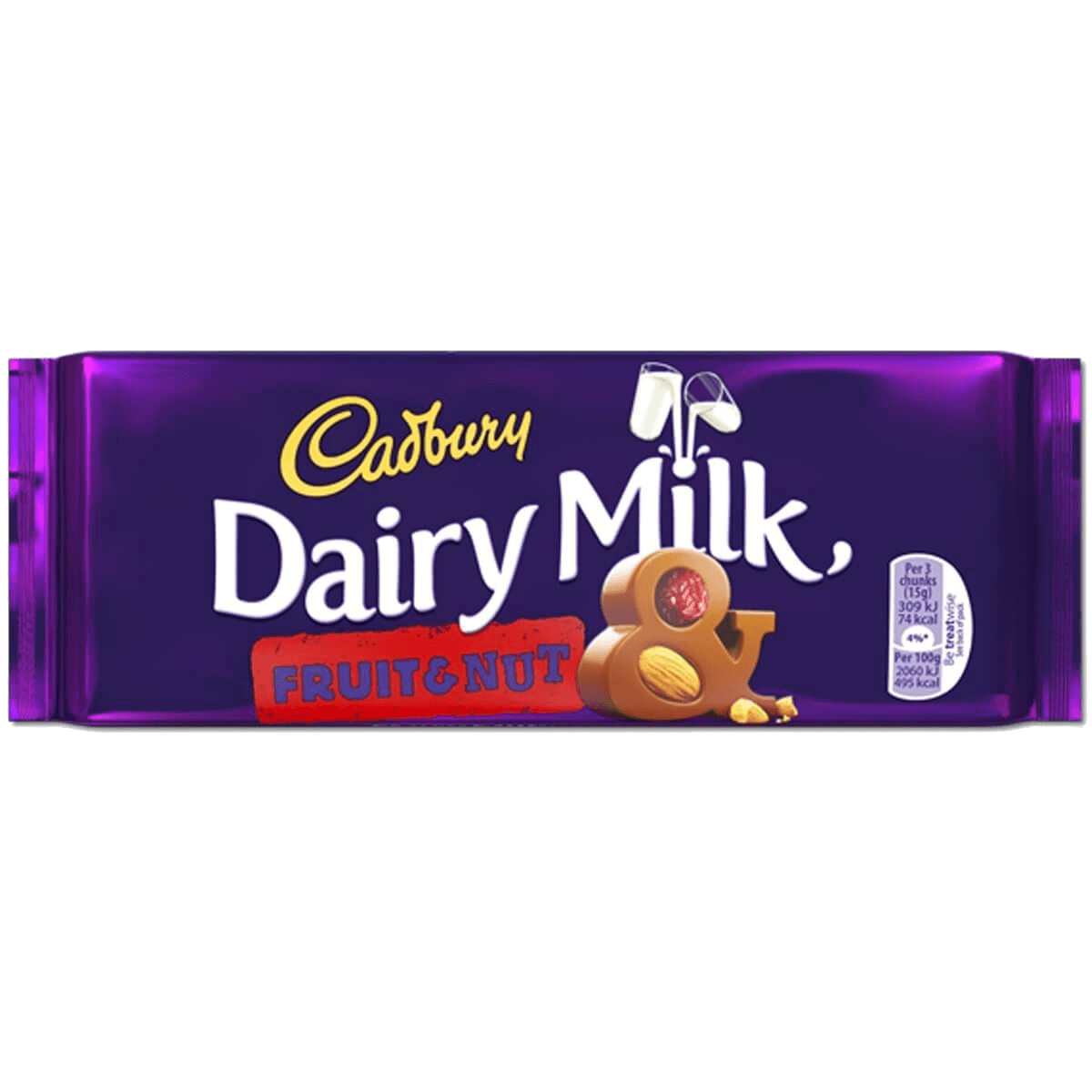 Шоколад Cadbury Dairy Milk Fruit & Nut, 110 г.