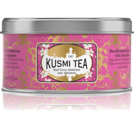 Чай Kusmi Decaffeinnated Earl Grey With Citrus Fruits, 125 г.