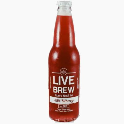 "Комбуча Live Brew ""Kill Bilberry"" на Пу-эре, 0.33 л."