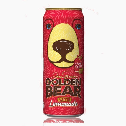 Напиток Arizona Golden Bear Lite Lemonade Strawberry, (Клубника), 0.68 л