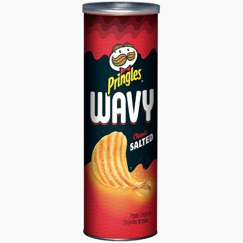 chipsy pringles wavy classic salted 137 g
