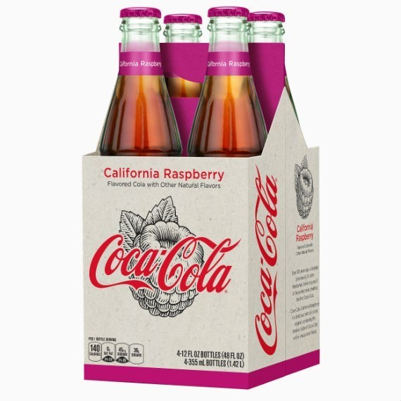 Coca-Cola California Raspberry, малина, 0.355 л