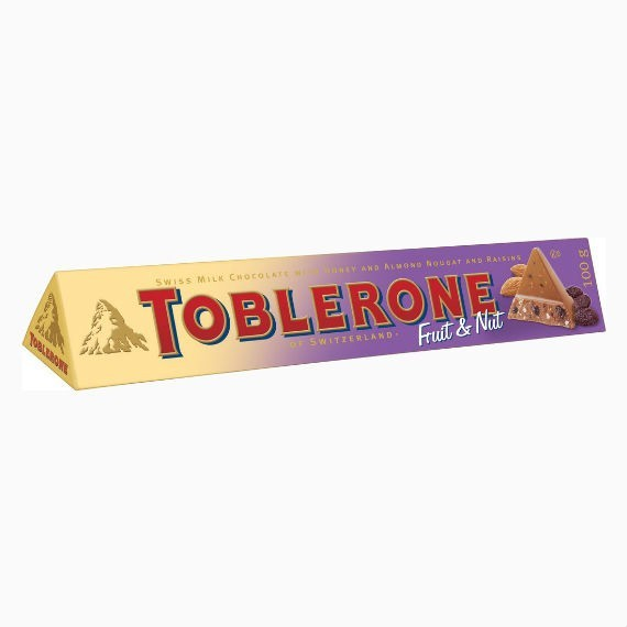 toblerone fruit  nut