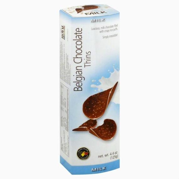 belgian milk chocolate thins milk 80 g
