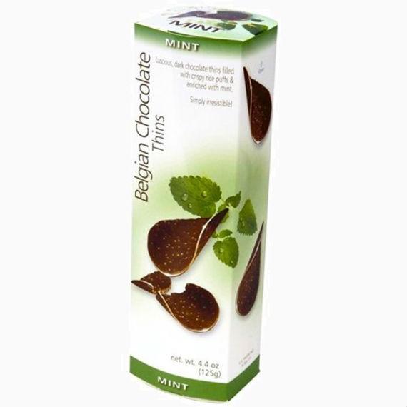Шоколадные чипсы Belgian Choc Thins Mint, 80 г