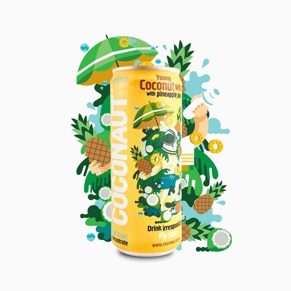 coconaut kokosovaja voda s ananasovym sokom 0.32 l