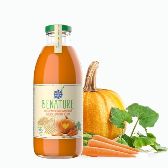 nektar benature morkovno tykvennyj 0.73 l