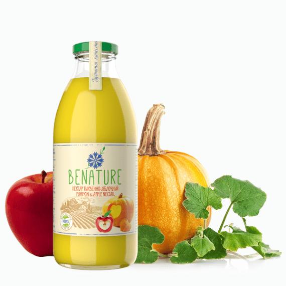 Нектар Benature, тыквенно-яблочный, 0.73 л