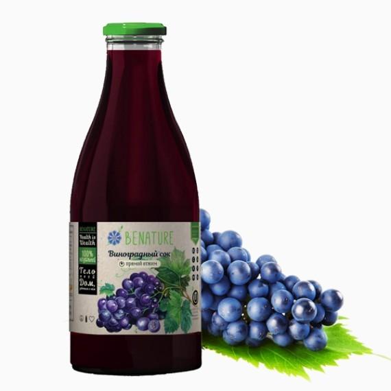 sok benature vinogradnyj 1.0 l prjamoj otzhim