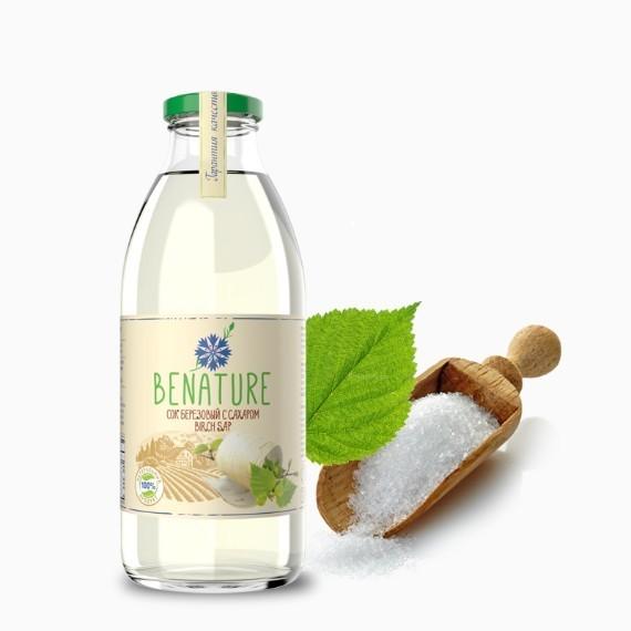 Сок березовый Benature с сахаром, 0.73 л