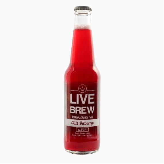 kombucha live brew kill bilberry 330 ml