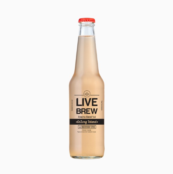 kombucha live brew oolong island 330 ml 1