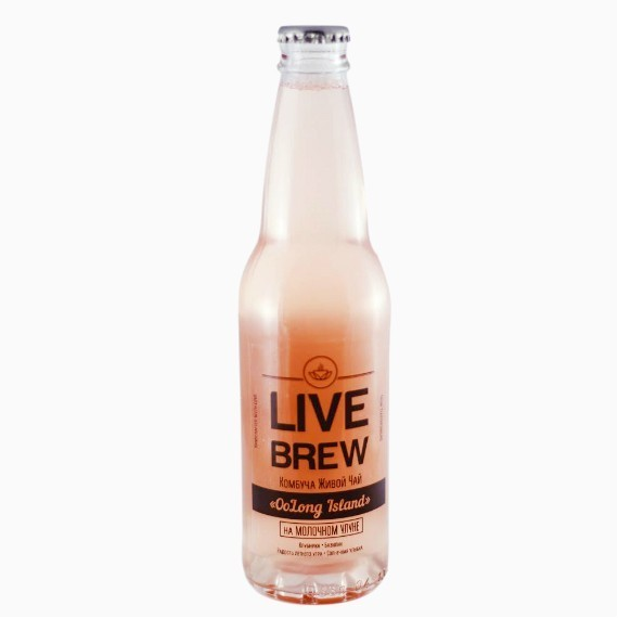 kombucha live brew oolong island 330 ml