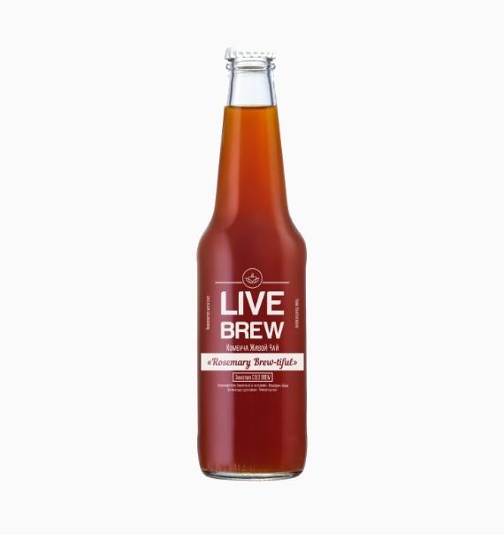 kombucha live brew rosemary brewtiful 330 ml 1