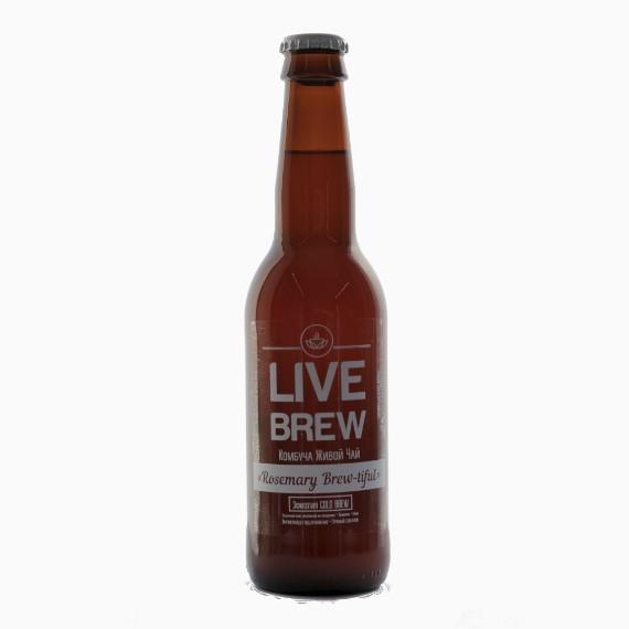 kombucha live brew rosemary brewtiful 330 ml