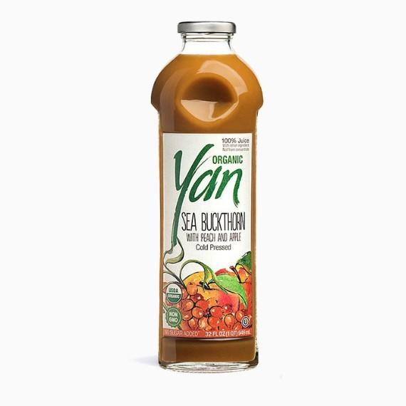 """Сок """"Yan"""" BIO, облепиха-персик-яблоко, 0.93 л."""