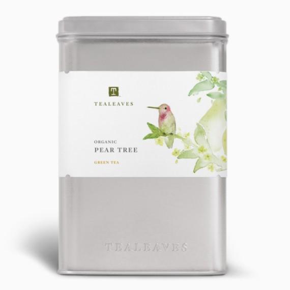 chaj tealeaves organic pear tree green