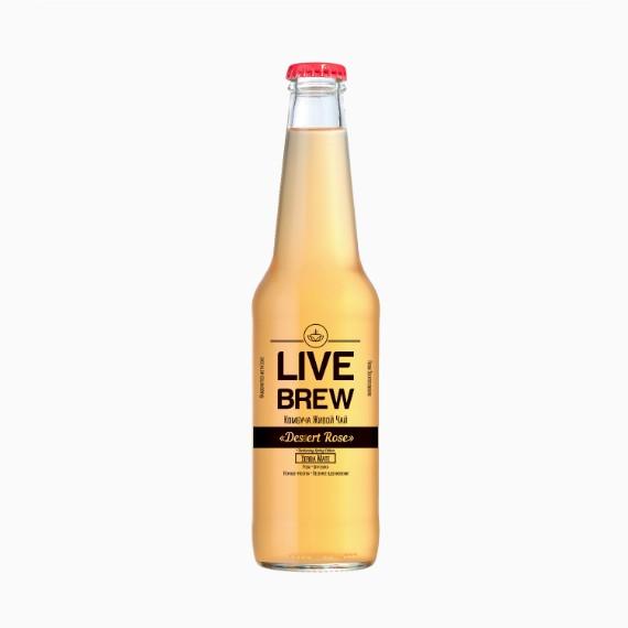 kombucha live brew desert rose 350ml 1