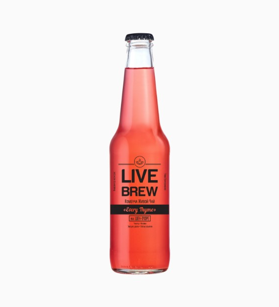 Комбуча Live Brew Every Thyme, 350мл