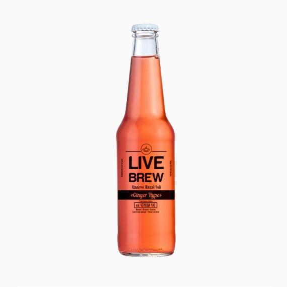 kombucha live brew ginger hype 350ml
