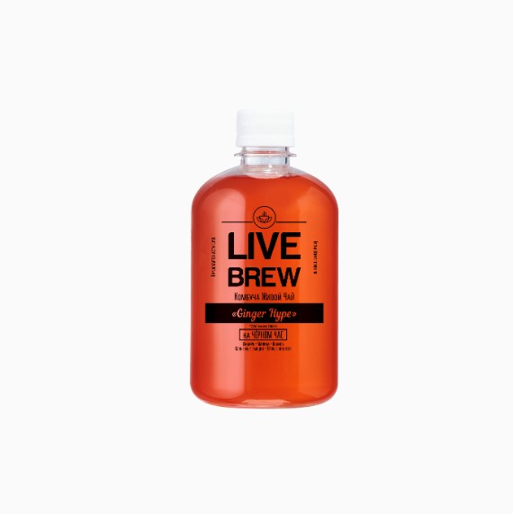 Комбуча Live Brew Ginger Hype, 520 мл