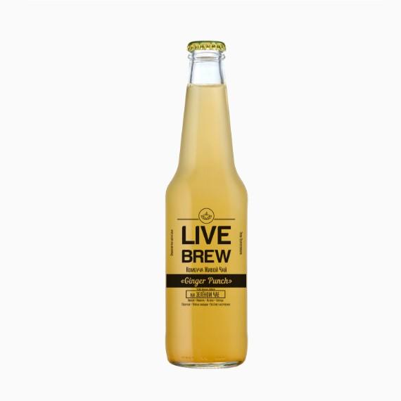 Комбуча Live Brew Ginger Punch, 350мл
