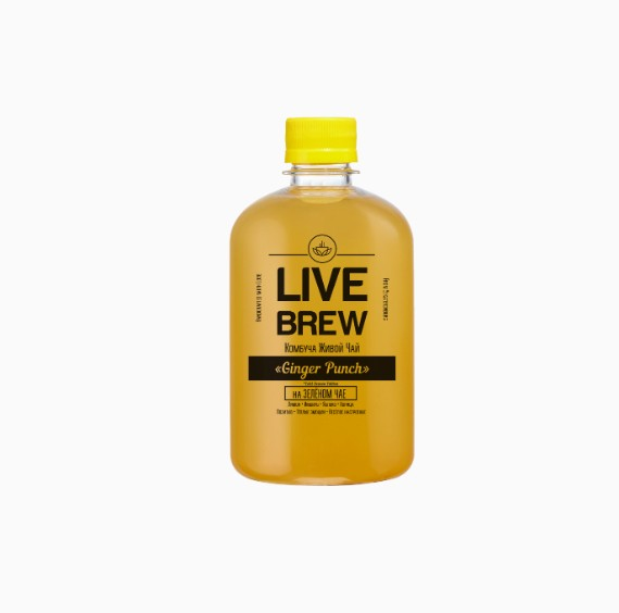 kombucha live brew ginger punch 520 ml