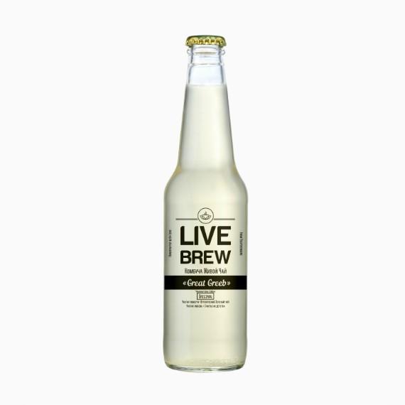Комбуча Live Brew Great Greeb, 350мл