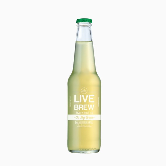 Комбуча Live Brew Oh My Green, 350 мл