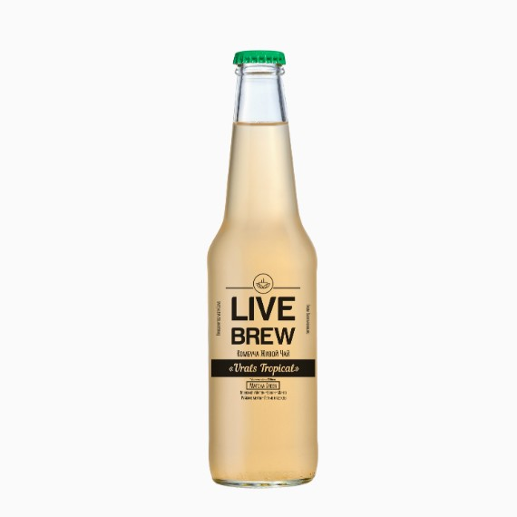 kombucha live brew urals tropical 350 ml