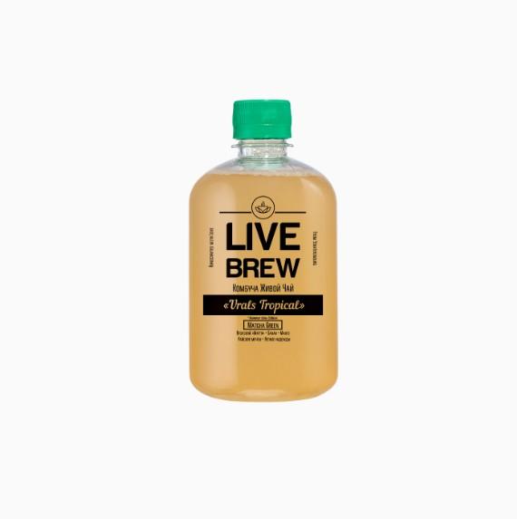 kombucha live brew urals tropical 520 ml