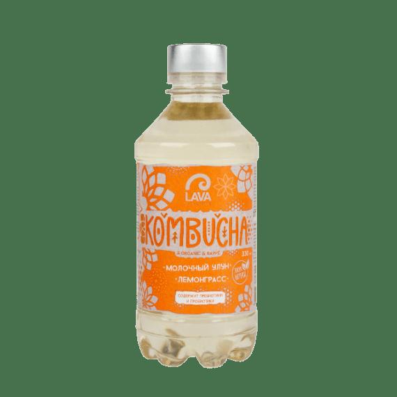kombucha lava superfood molochnyj ulun lemongrass 330 ml
