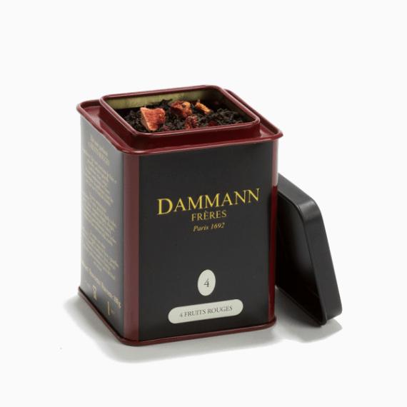 chaj dammann freres quatre fruits rouges 125 g.