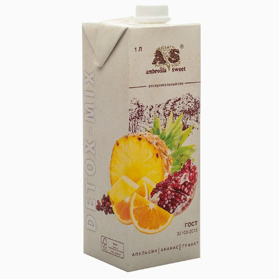 detoks sok ambrosia sweet apelsin ananas granat 1.0 l