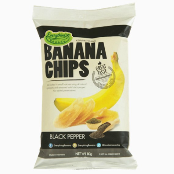 everything banana chips s chernym percem 80 g