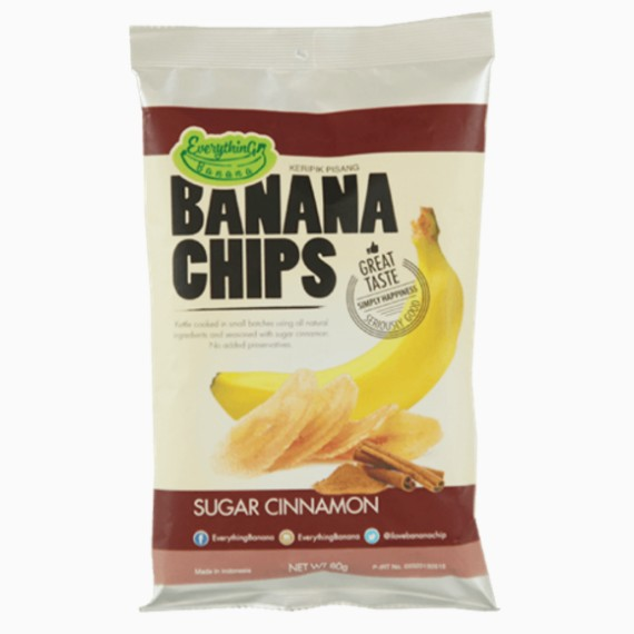 Everything Banana Chips, с корицей, 80 г