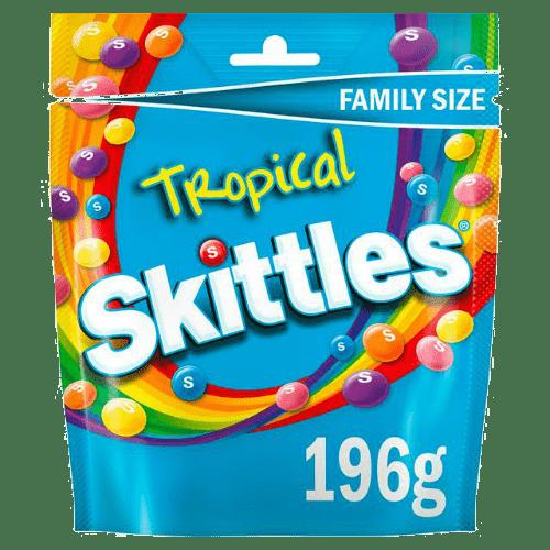konfety skittles tropical giants 196 g