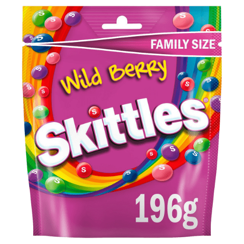Конфеты Skittles Wild Berry Giants, 196 г