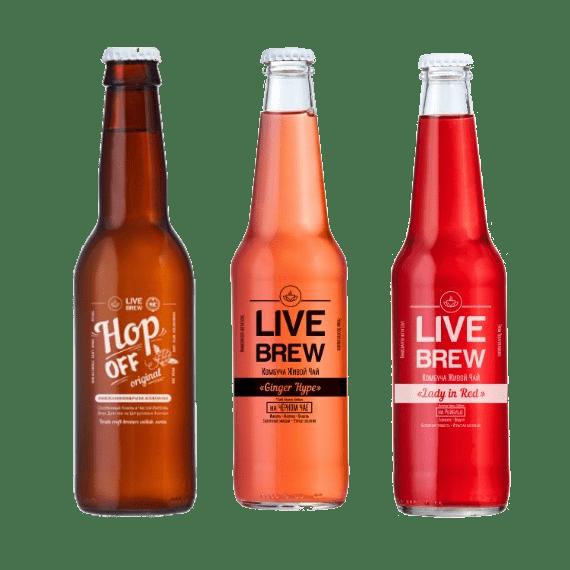 kombucha live brew miks upakovka 350 ml