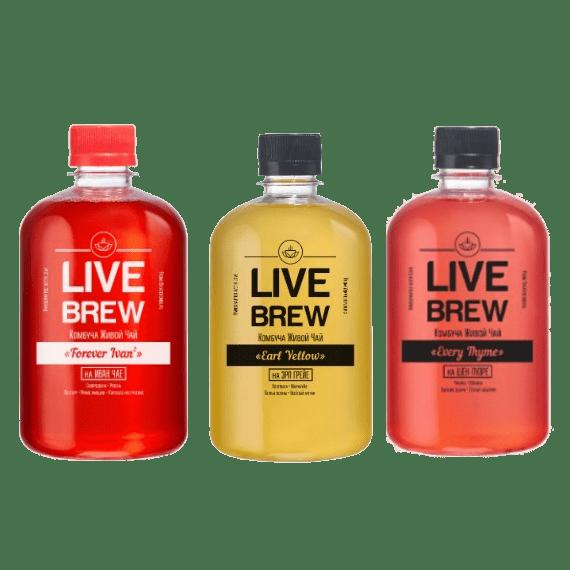 kombucha live brew miks upakovka 520 ml