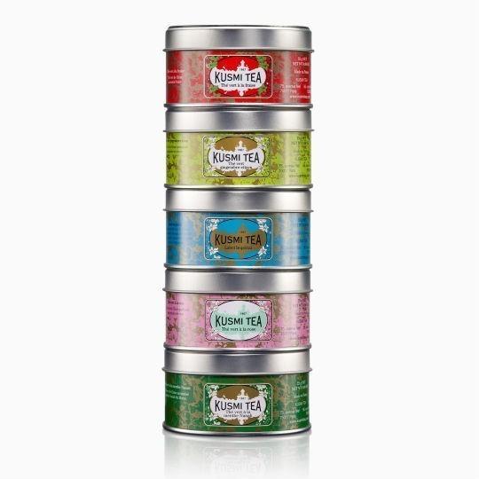 chaj kusmi green teas gift set podarochnyj nabor 5 25 g