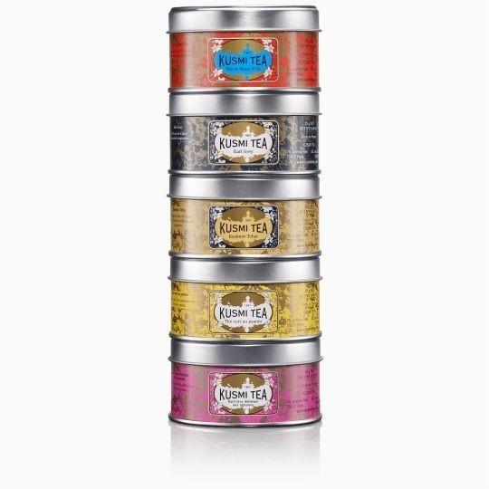 chaj kusmi one moment one tea assortment podarochnyj nabor 5 25 g