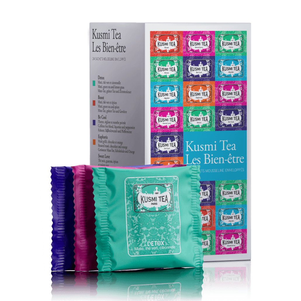 chaj kusmi wellness teas assortment podarochnyj nabor 2 2 gr h 24 s