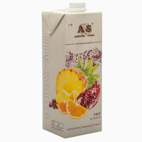 detoks sok ambrosia sweet apelsin ananas granat 1 0 l