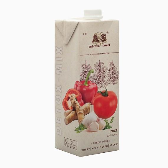 detoks sok ambrosia sweet tomat perec chesnok ogurec 1 0 l