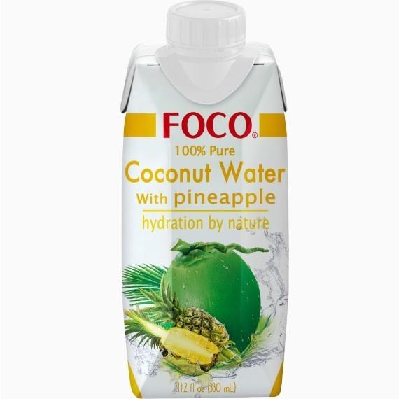 foco kokosovaja voda s sokom ananasa 0 33 l